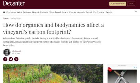 In che modo biologico e biodinamico influenzano il Carbon footprint di un vigneto?