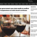 La Cina blocca le importazioni dall'Australia