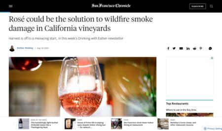 Smoke taint? Il rosé potrebbe essere la soluzione in California